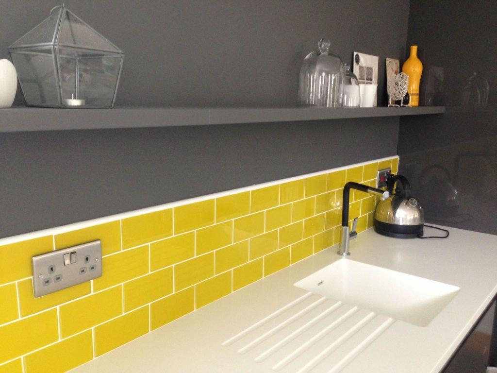 Yellow Glass Metro Tiles Yellow Kitchen Tiles Metro Tiles Glass Metro Tile