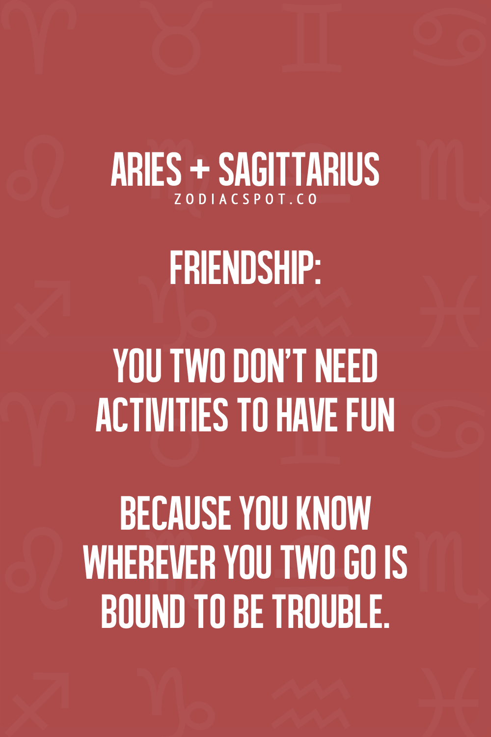 More Zodiac Compatibility here! | Astrology | Aries