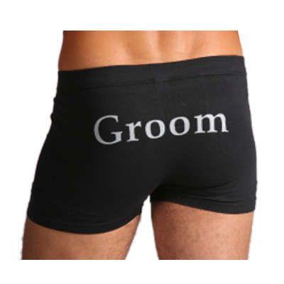 Mens Bridal Party Black Underwear Trunks From Easy Weddings Australia