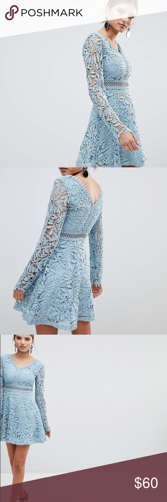 af5faf69cc30 Boohoo Crochet Lace Long Sleeve Skater Dress Boohoo Crochet Lace Long  Sleeve Skater Dress Boohoo Dresses