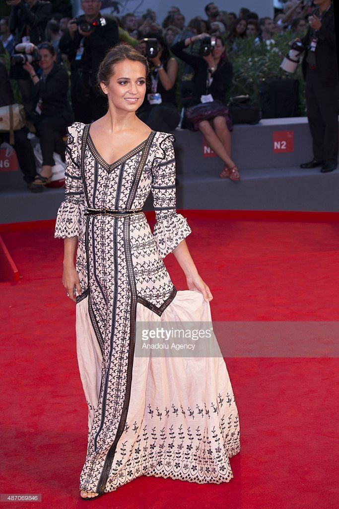 Actress Alicia Vikander attends the premiere of the movie 'THE DANISH GIRL' during the 72nd Venice Film Festival on September 5, 2015 in Venice, Italy.