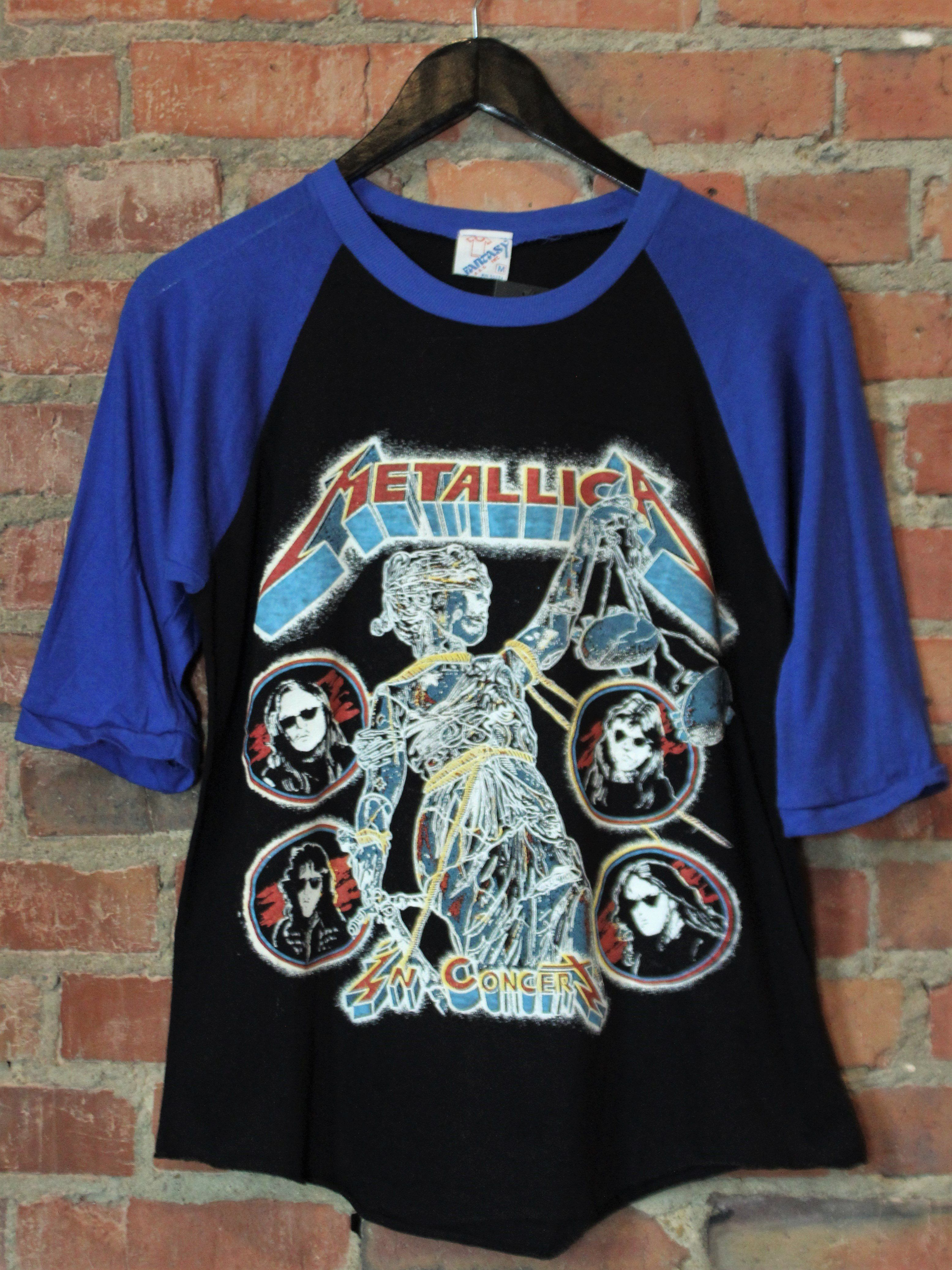 891610e9992 Vintage Metallica Concert T Shirt 1988 And Justice For All Bootleg ...