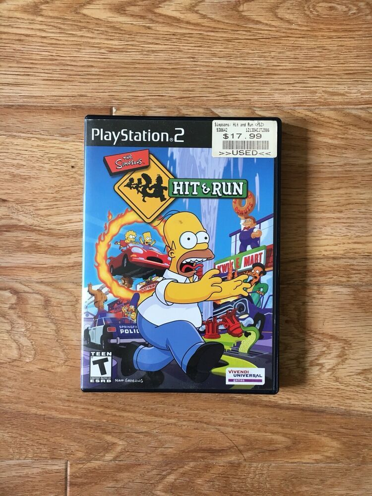 The Simpsons Hit and Run (PS2, PlayStation 2, 2003) CIB