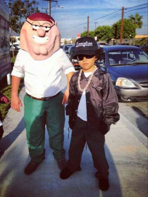 Eazy E u0026 Peter Family Guy kids Halloween costume! & Eazy E u0026 Peter Family Guy kids Halloween costume! | Halloween ...