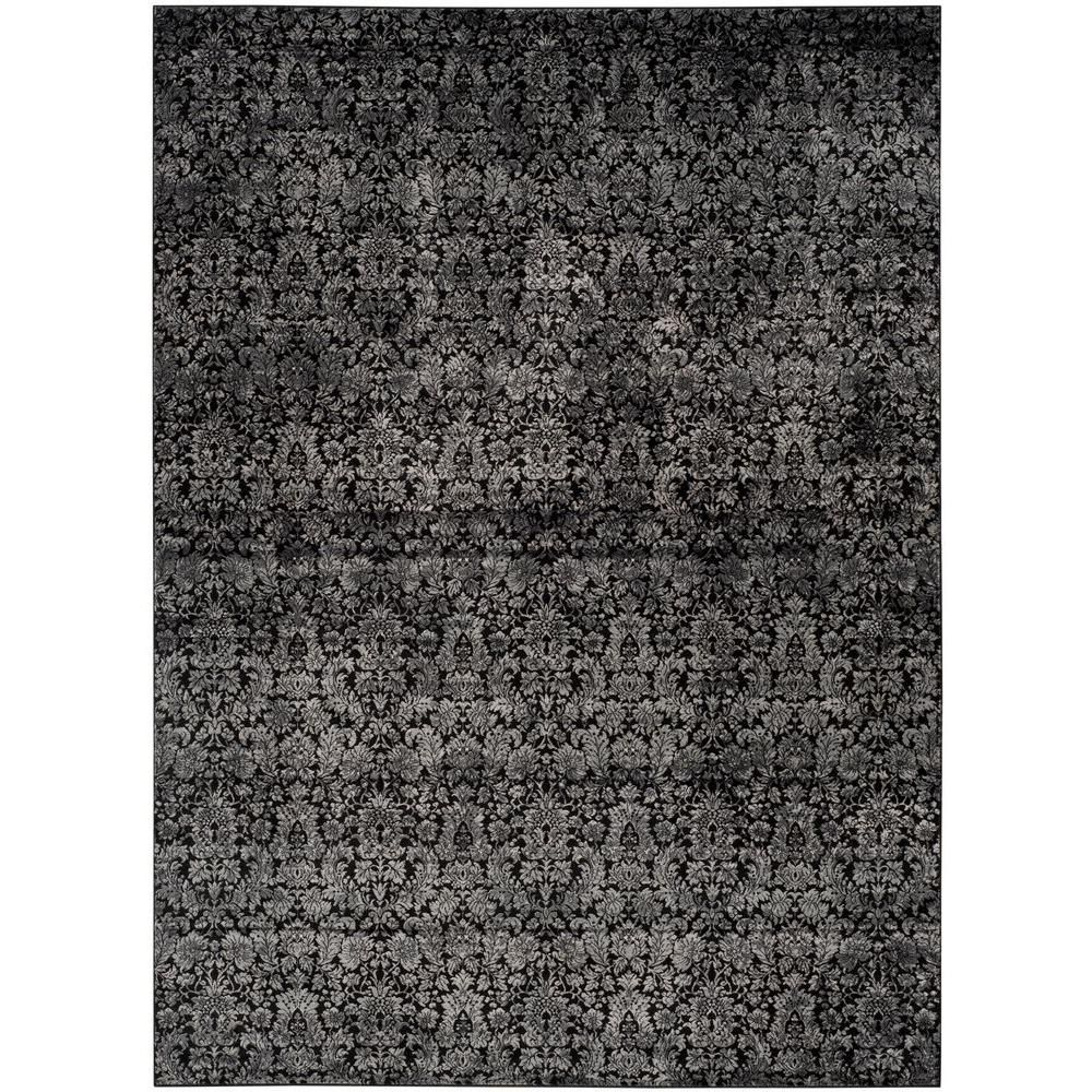 Vintage Black Light Grey 9 Ft X 12 Ft Area Rug Vintage Area Rugs
