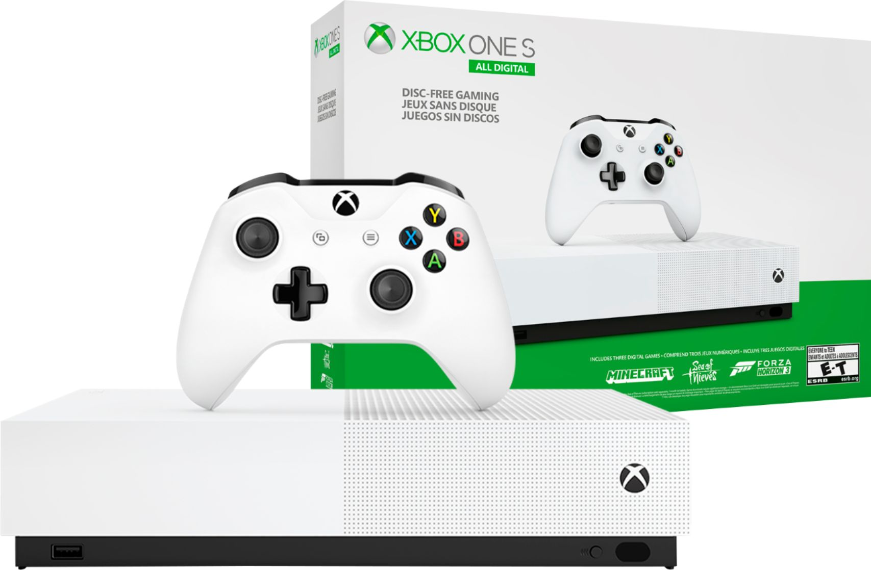 Microsoft Xbox One S 1tb All Digital Edition Console Disc Free Gaming Njp 00024 Best Buy Xbox One S 1tb Xbox One Xbox One S