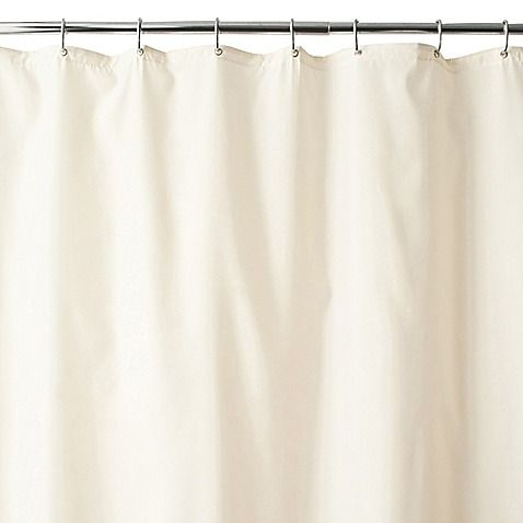 Wamsutta Fabric Shower Curtain Liner With Suction Cups Long