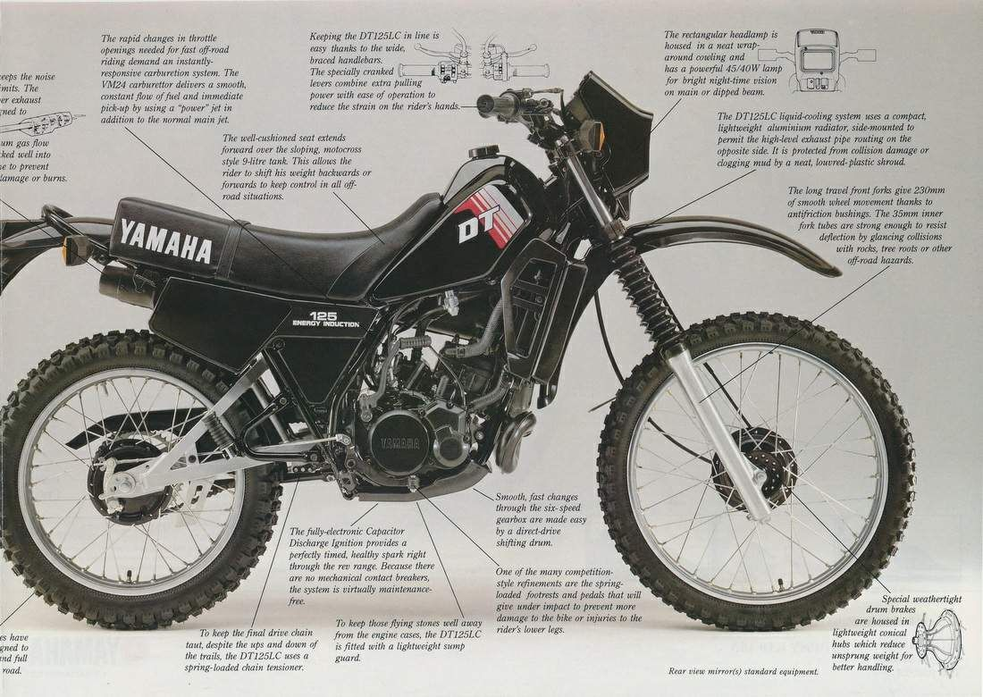 Yamaha Dt125 Dt 125 Yamaha Dt 125 Yamaha
