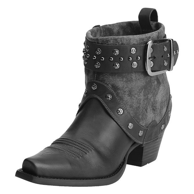 These boots are just what you need for a day around town and a girl's night out. The full grain leather upper with contrasting fold-over leather...