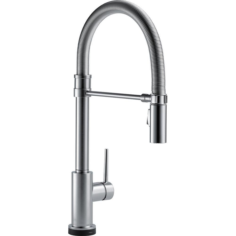 Delta Trinsic Pro Single-Handle Pull-Down Sprayer Kitchen Faucet ...