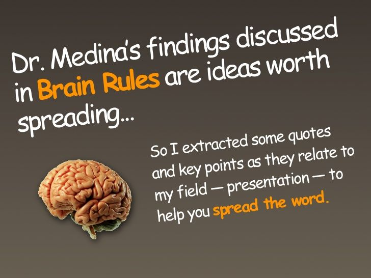 Brain Rules for Presenters | Instructional Design stuff ...