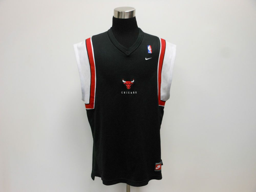 buy popular f5cad 8ee35 Vtg 90s Nike Chicago Bulls Jersey Sleeveless Shirt XL Extra ...