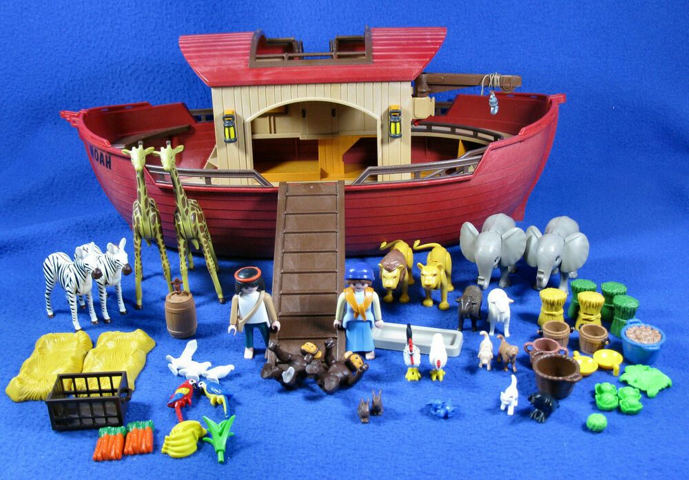 Vintage 2003 Playmobil Noahs Ark Playset With Alot Of Original Pieces Animals Playmobil In 2020 Playset Original Piece Playmobil