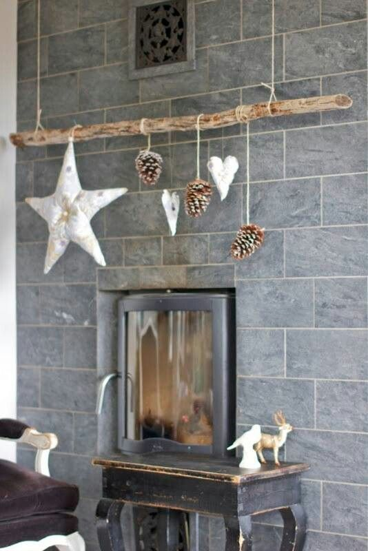Decoraci n sencilla navide a drift wood art pinterest weihnachten weihnachtsdekoration - Skandinavische dekoration ...