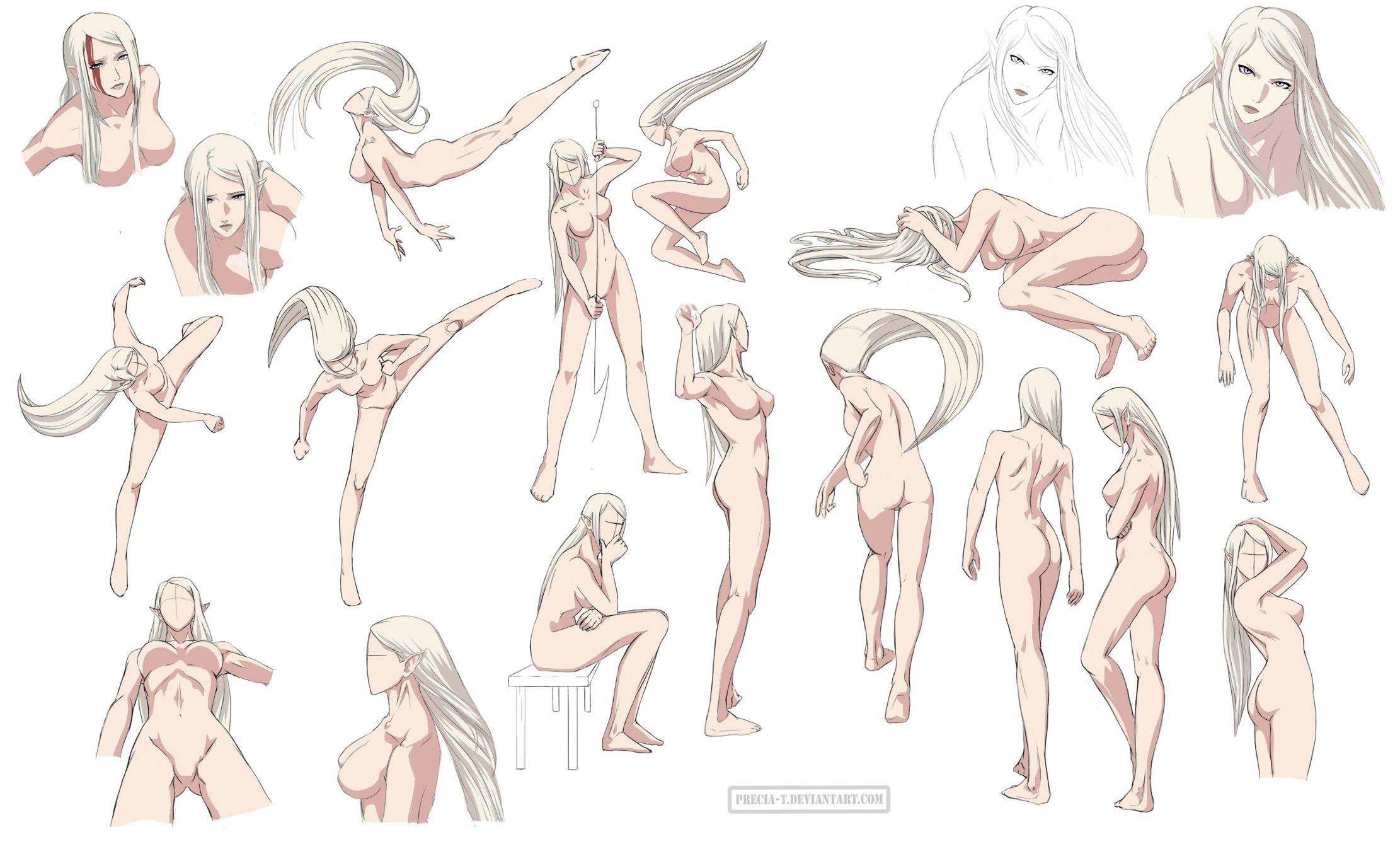 Female anatomy 6 Colored by Precia-T.deviantart.com on @deviantART ...