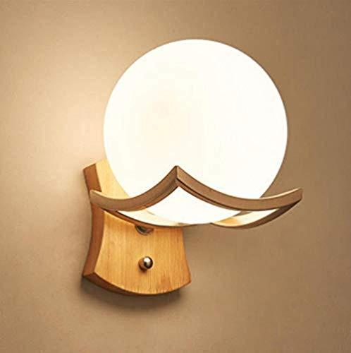 Wandleuchte Tischdecke Moderne Einfache Holz Milchig Glas
