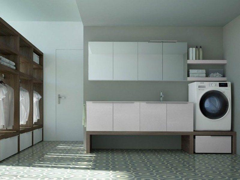 SPAZIO TIME 06 | Waschküche Schrank Mit Integriertem Waschbecken By  IdeaGroup