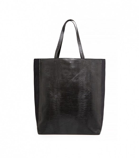 Mango Croc-Effect Shopper Bag ($60) | 14 Stylish Carry-Ons For Every Budget via @WhoWhatWear