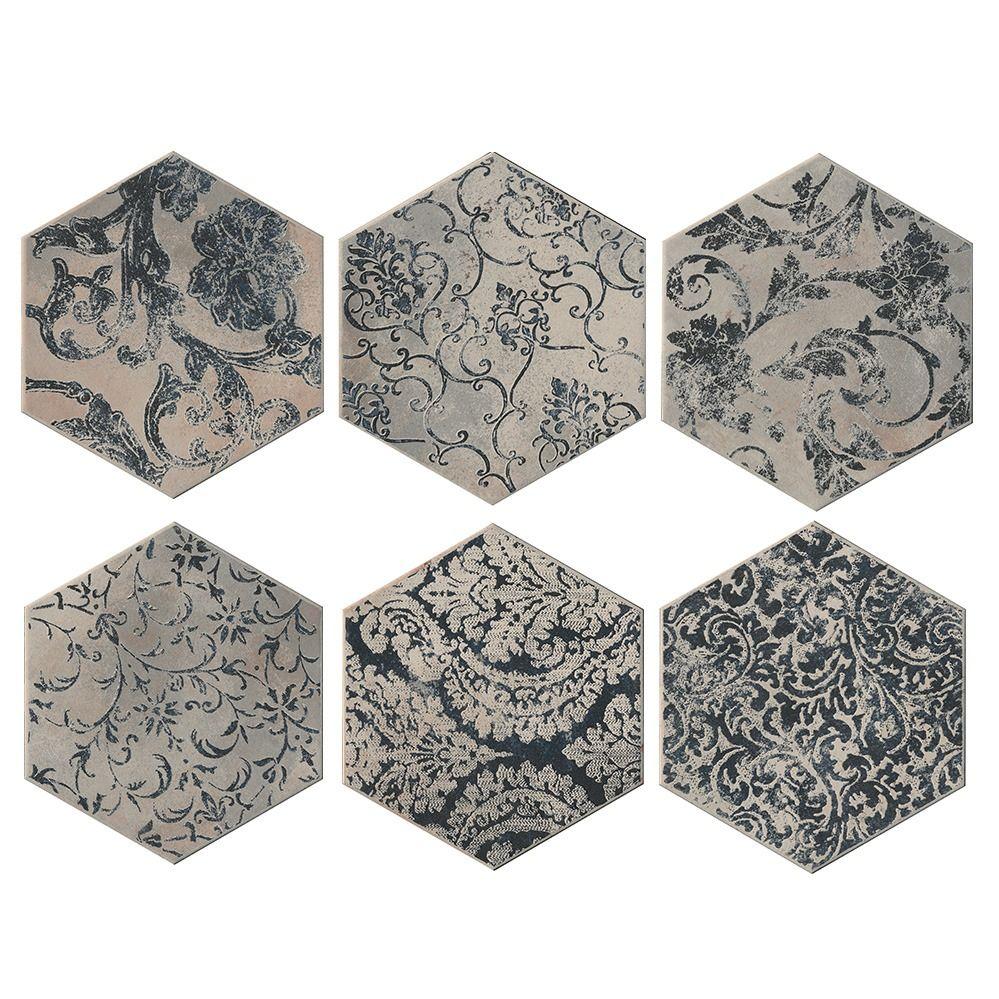 Carrelage Hexagonal Imitation Carreaux De Ciment 24x27 7 Collins