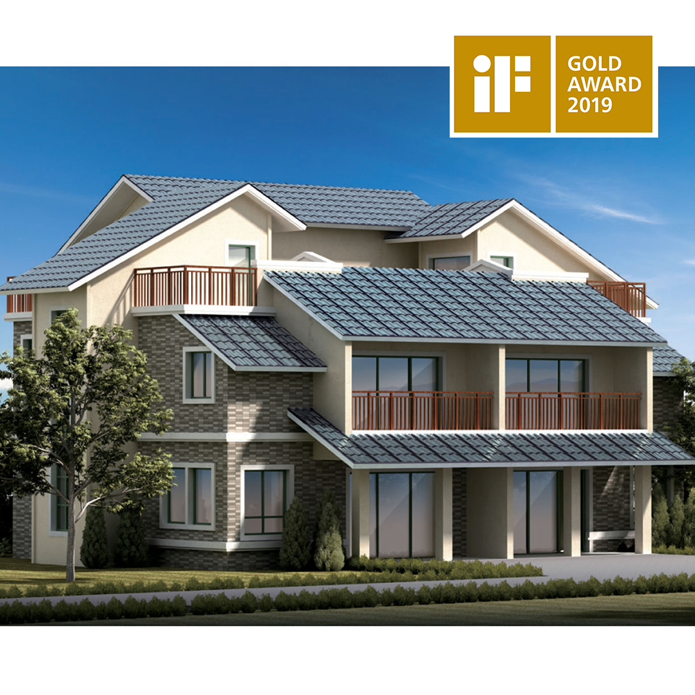 Single Glass Triple Arch Hantile Solar Roofing Tiles By Hanergy Photovoltaic Cells Architecture Design Modern Architecture