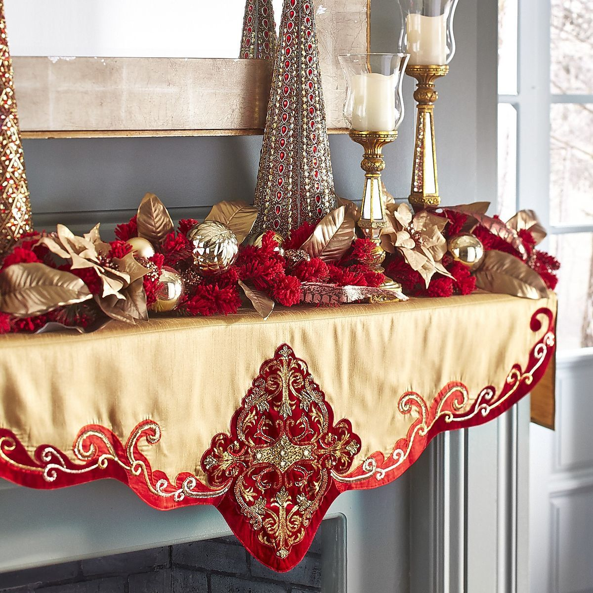 Pin By Shelby A Lominac On Christmascraftdecor Christmas Mantel Scarf Christmas Mantels Christmas Mantle