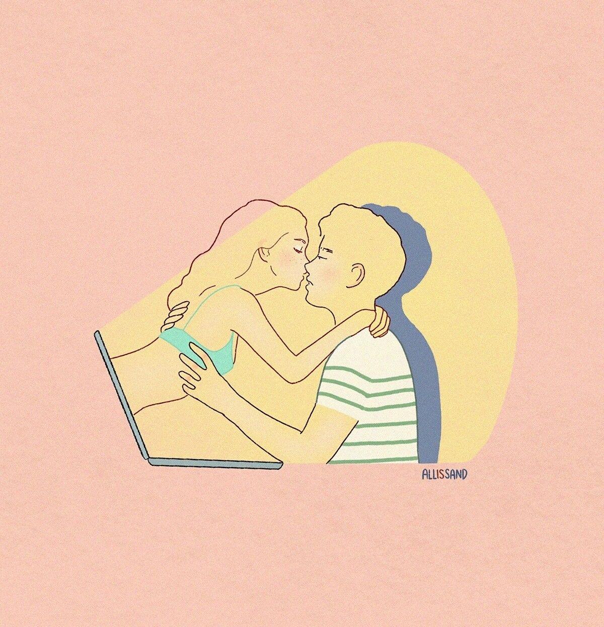 Las Ilustraciones De Alessandra Bruni Expresan Sentimientos Universales Cultura Inquieta In 2020 Love Design Illustration Art