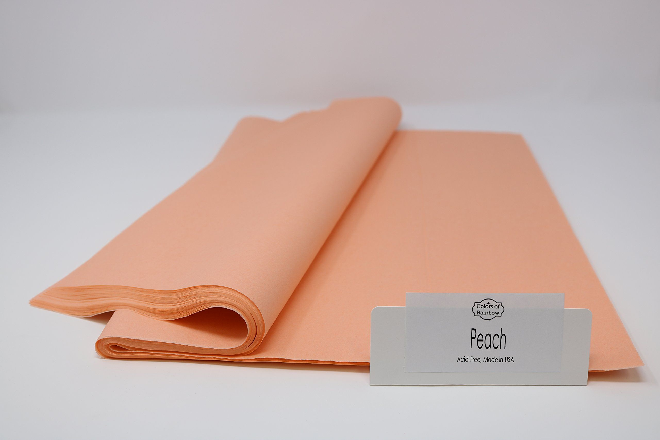 Peach Gift Wrapping Tissue Paper 15 X 20 Colors Of Rainbow Peach 96