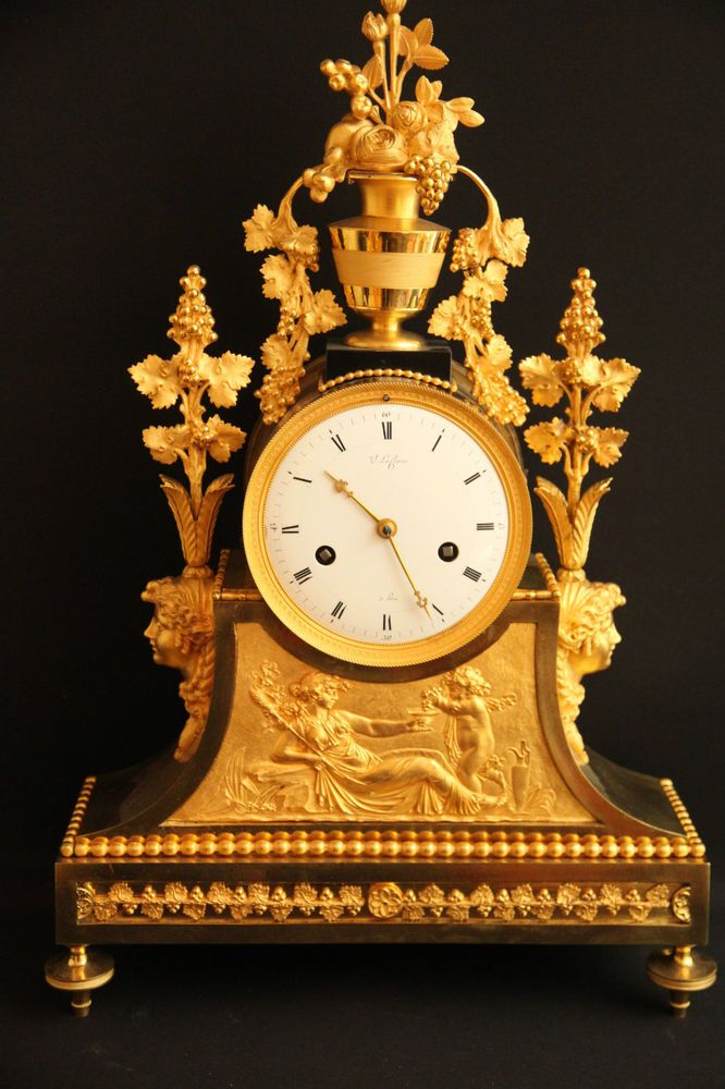 Traumhaftschone Alte Feuervergoldete Empire Um 1800 Kaminuhr Tischuhr Raritat Kaminuhren Tischuhr Antike Wanduhren