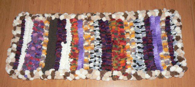 Crochet Rug recycling Art OOAK
