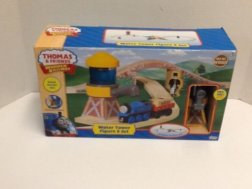 Thomas Friends Water Tower Figure 8 Train Set New Real Wood Wooden