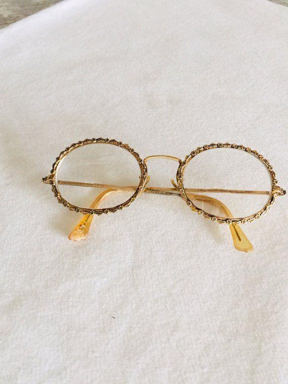 1607c0bd0ab Shuron Eyeglasses Daisy Chain Gold Tone Frames FREE SHIPPING ...