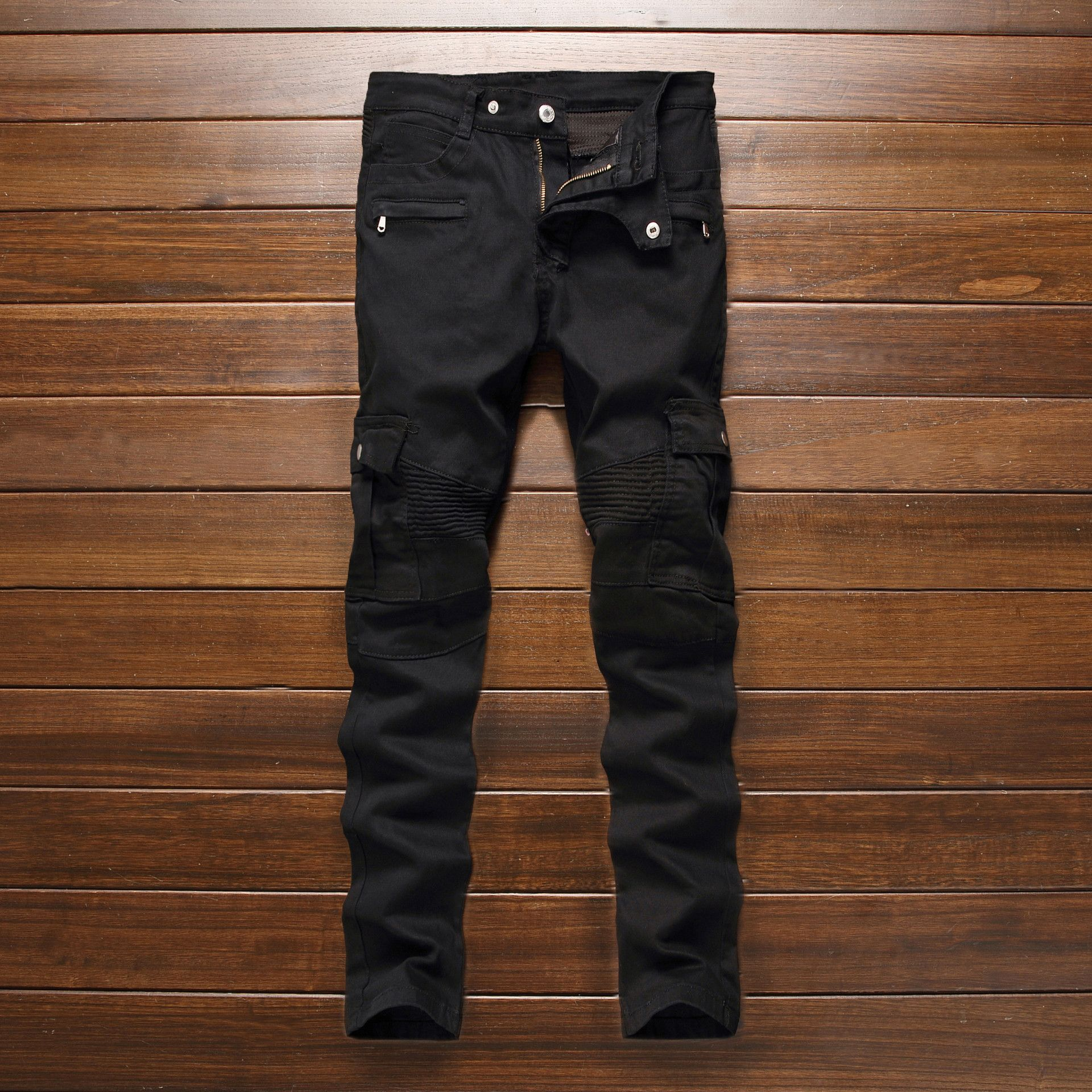 158f5d36deb9 Click to Buy    Fashion Men s Designer Pattern Black Jeans Men Casual  Straight