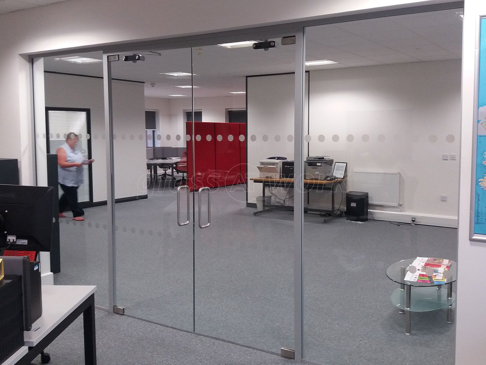 From Glass At Work Glass Partition With Framed Double Glass