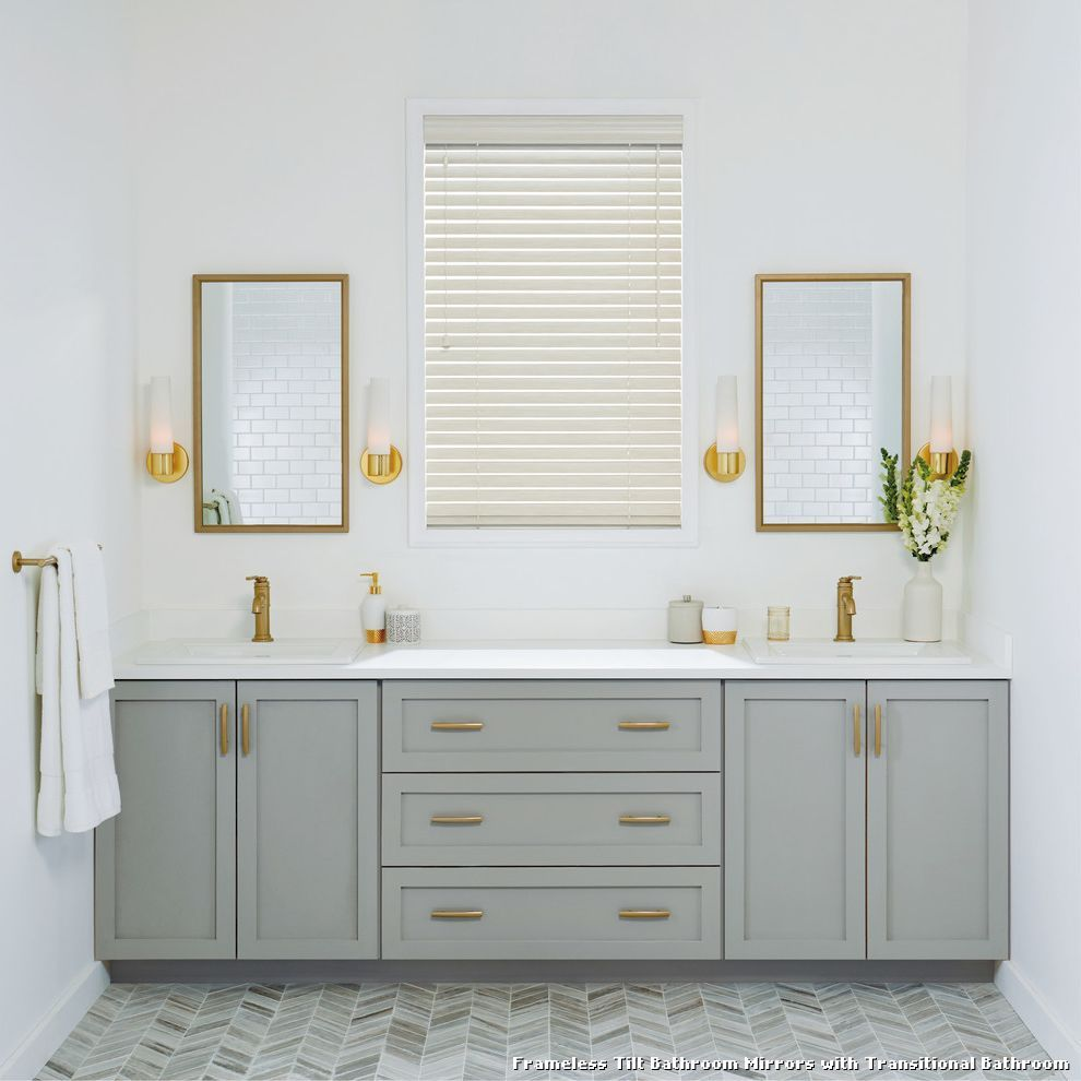 Frameless Tilt Bathroom Mirrors   Tablecloth   Pinterest   Bathroom ...