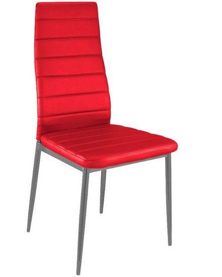 7109bab420ebd8 Lot de 8 Chaises ALIS ROUGE au meilleur prix ! - LeKingStore ...