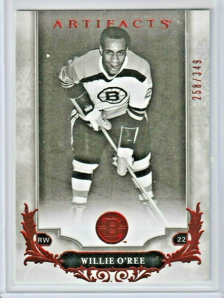 Willie O'Ree 2018-19 Boston Bruins #132 Ruby Artifacts 258 ...