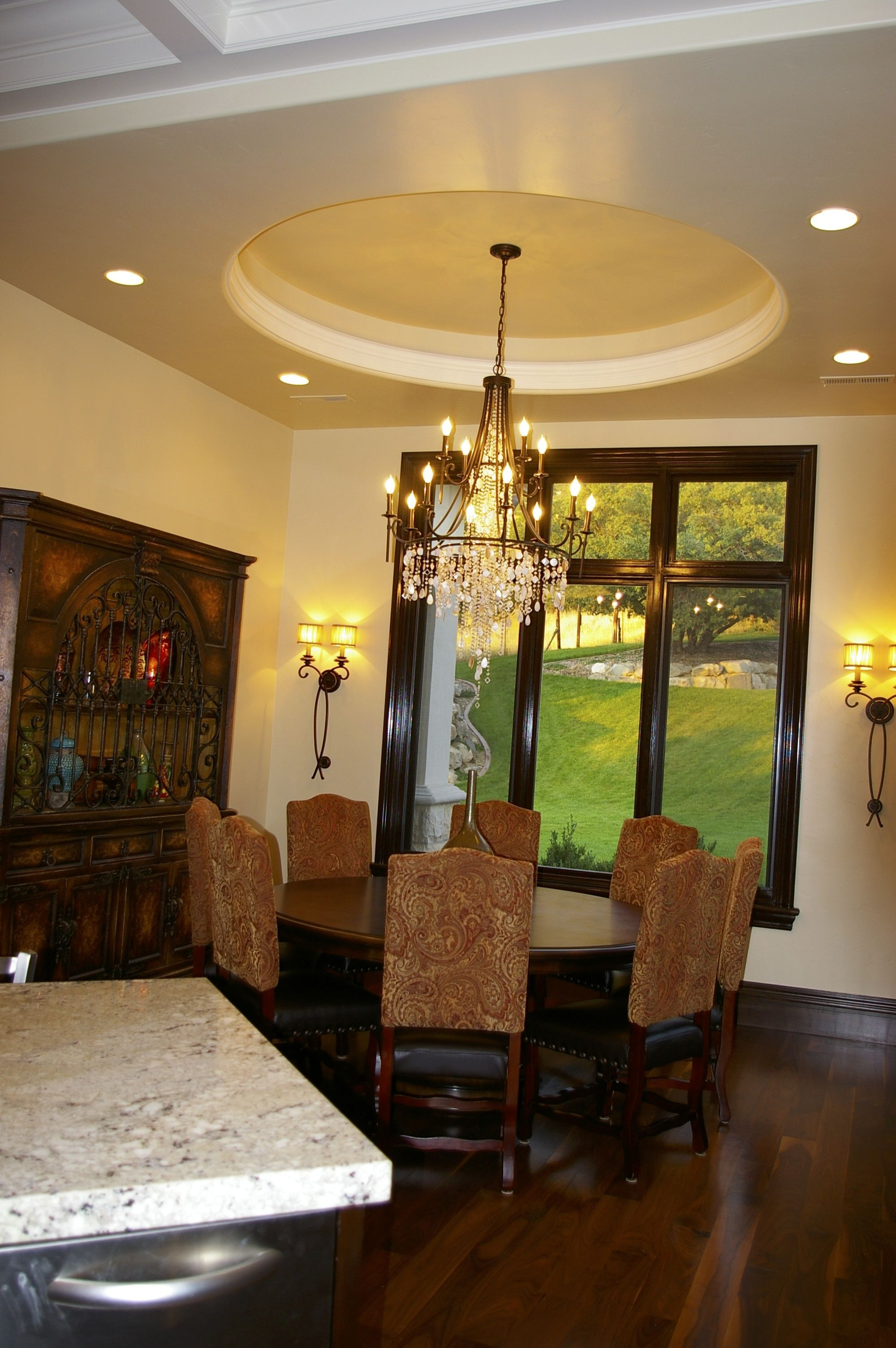 Dining Room-Tray Ceiling | Dining room colors, Dining room ...