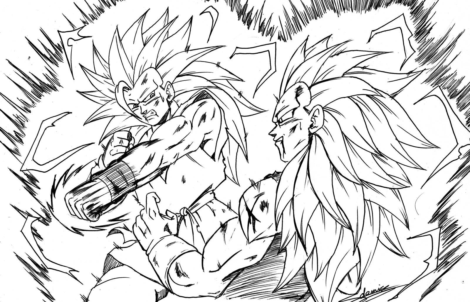 Letras Dbz Broly Colouring Pages
