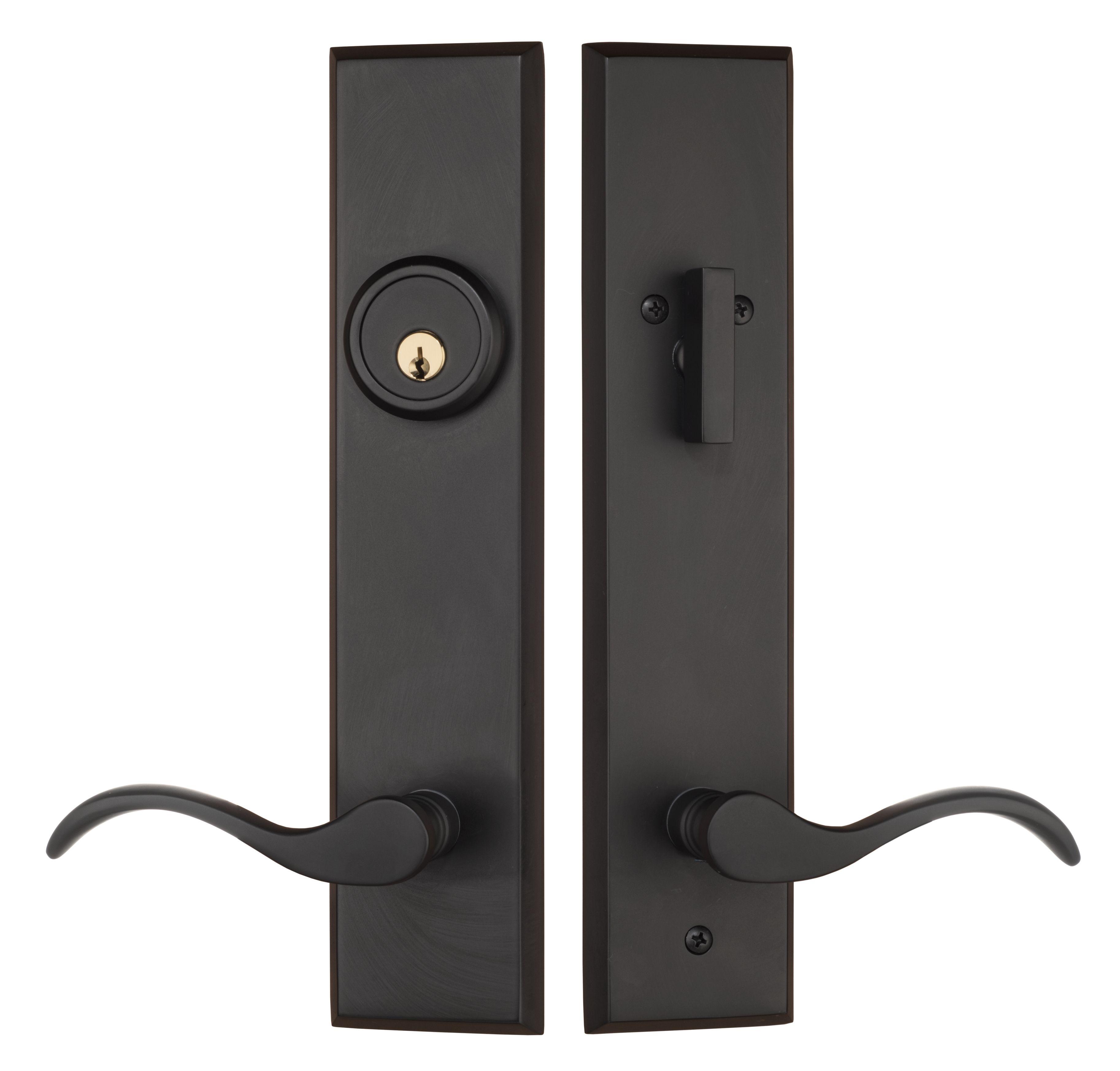 Rockwell Verano Premium Entry Door Handle Set With Dahli Lever In Distressed Nickel Finish Rockwell Security Door Handles Single Cylinder Deadbolt Door Handle Sets
