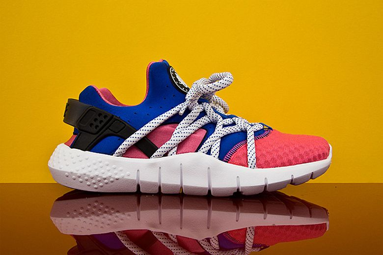 check out 39aec bba24 Nike Air Huarache NM in Black White and Pink Royal