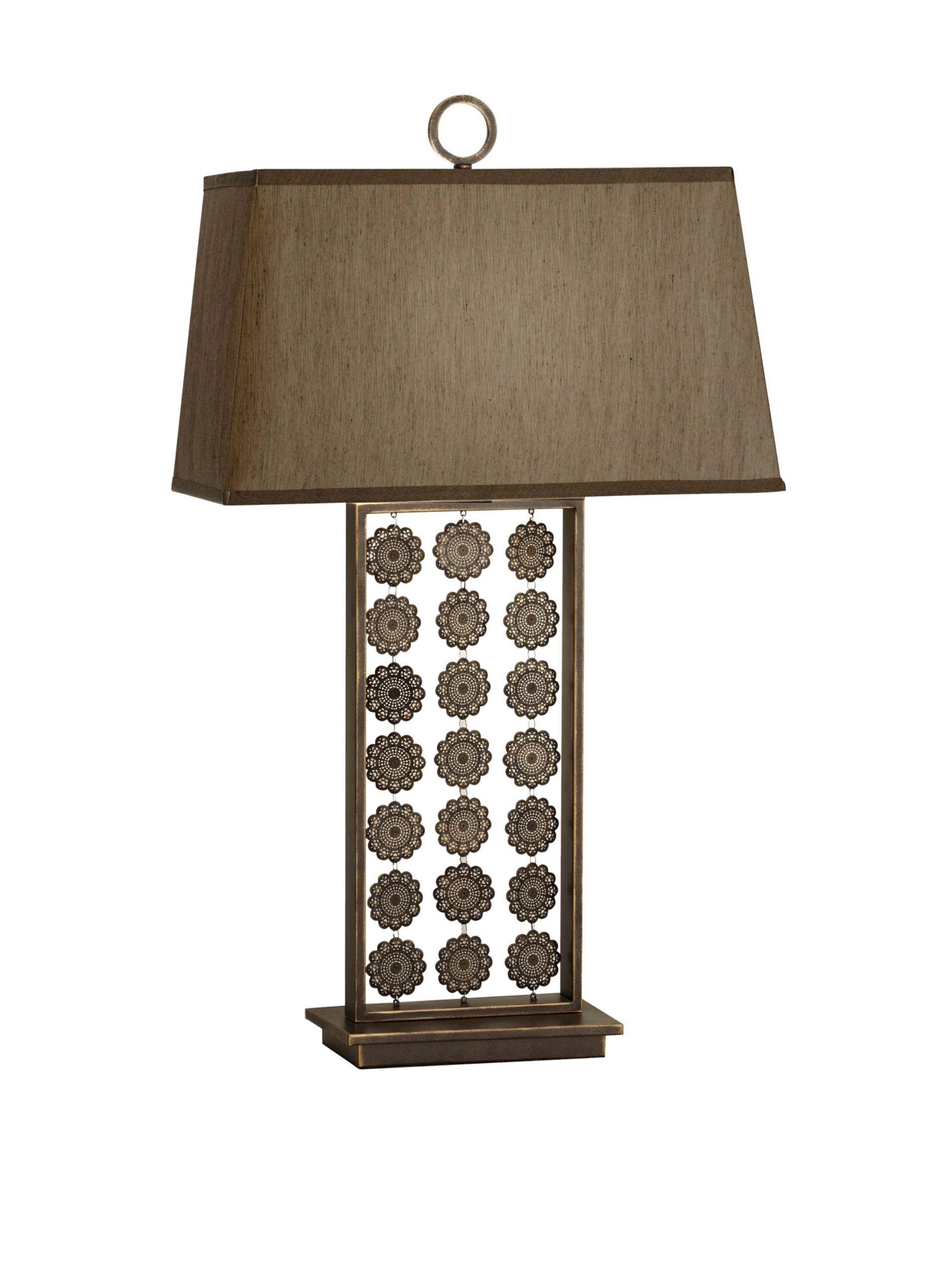 Feiss Independents Table Lamp Twist Switch Open Base With Disc Embellishment Requires 100 Watt Max 3 Way Type A Bulb Not Included Lig Lamp Table Lamp Decor Lamp with switch on base