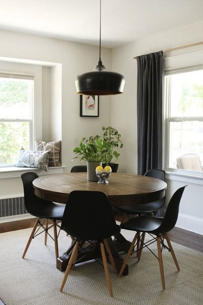modern round dining table extendable | Table and chairs ...