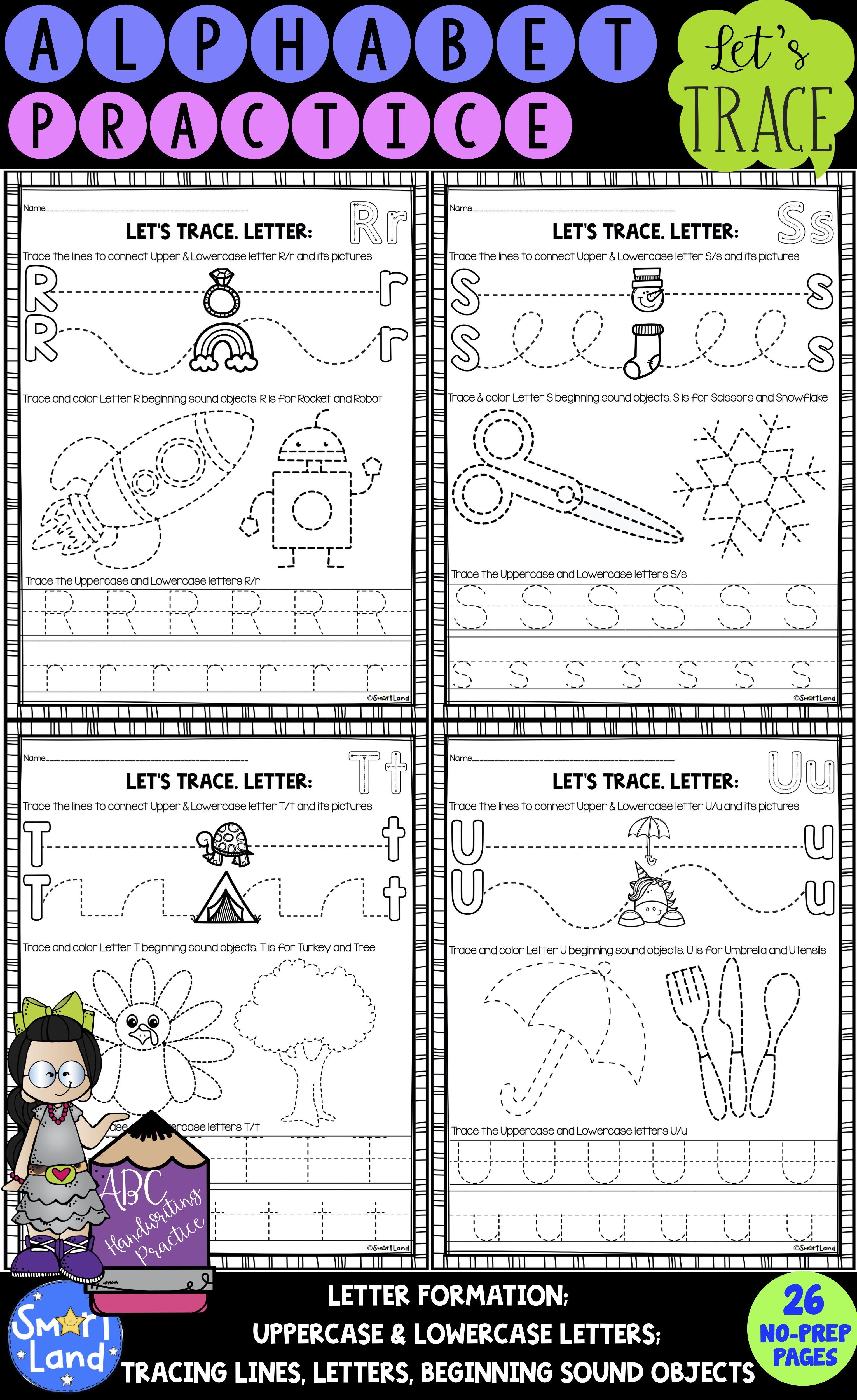 Alphabet Handwriting Practice Tracing Activities In