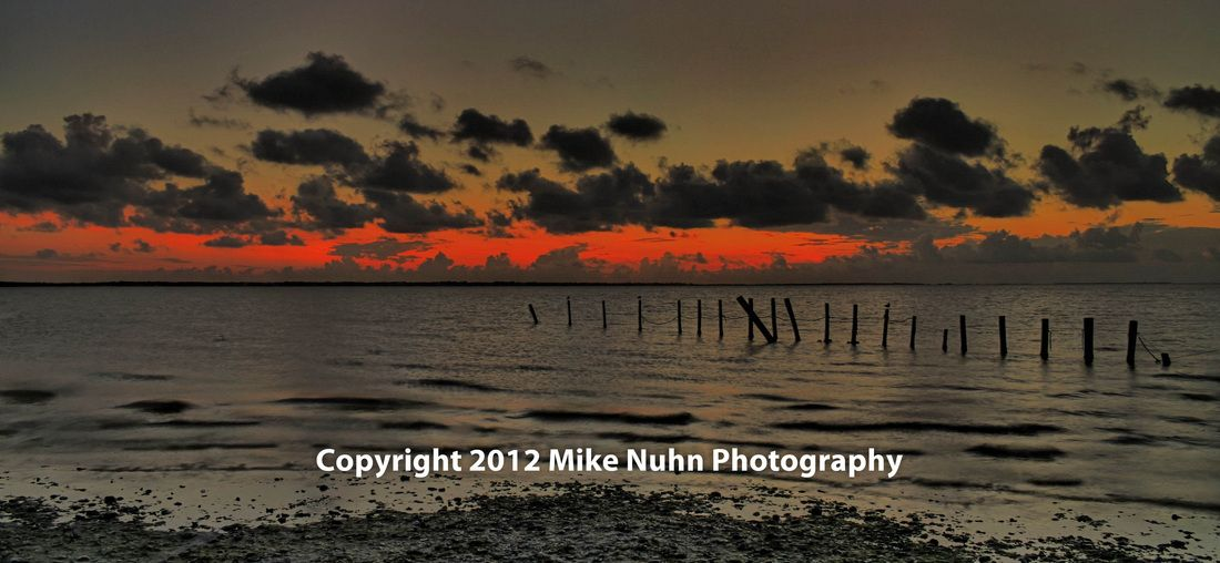 Gallery - Mike Nuhn Photography - Ocean - Gulf of Mexico - Rockport, Texas - Copano Bay - Remnants of a pier
