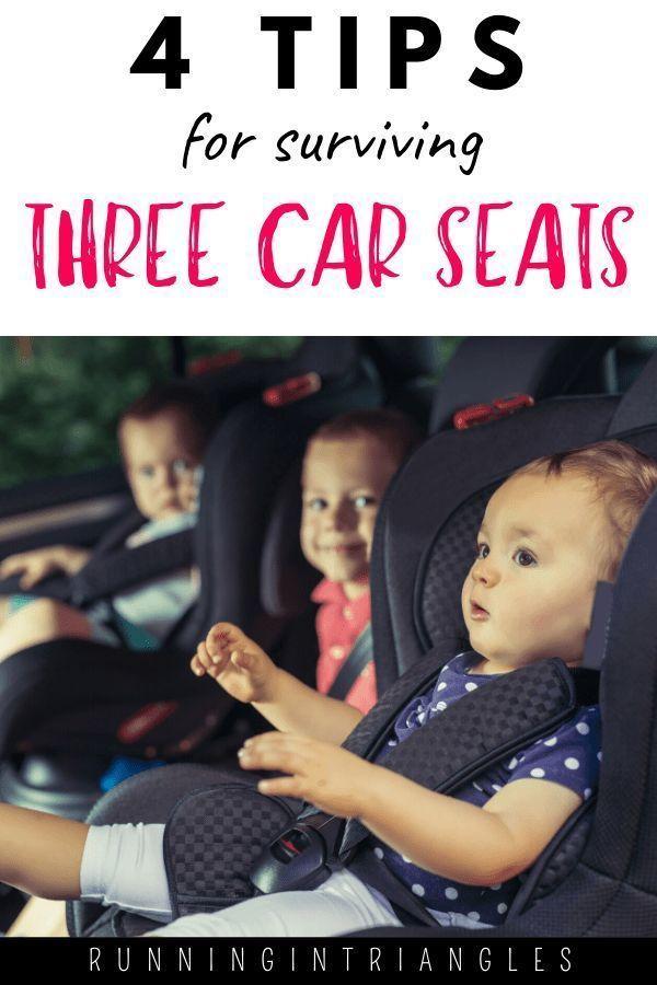Drei Kinder im hohen Alter zu haben kann bedeuten drei Autositze in einem  Drei Kinder im hohen Alter zu haben kann bedeuten drei Autositze in einem