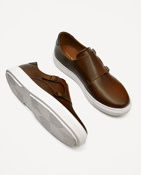BROWN MONK SHOES WITH RUBBER SOLE - NEW IN