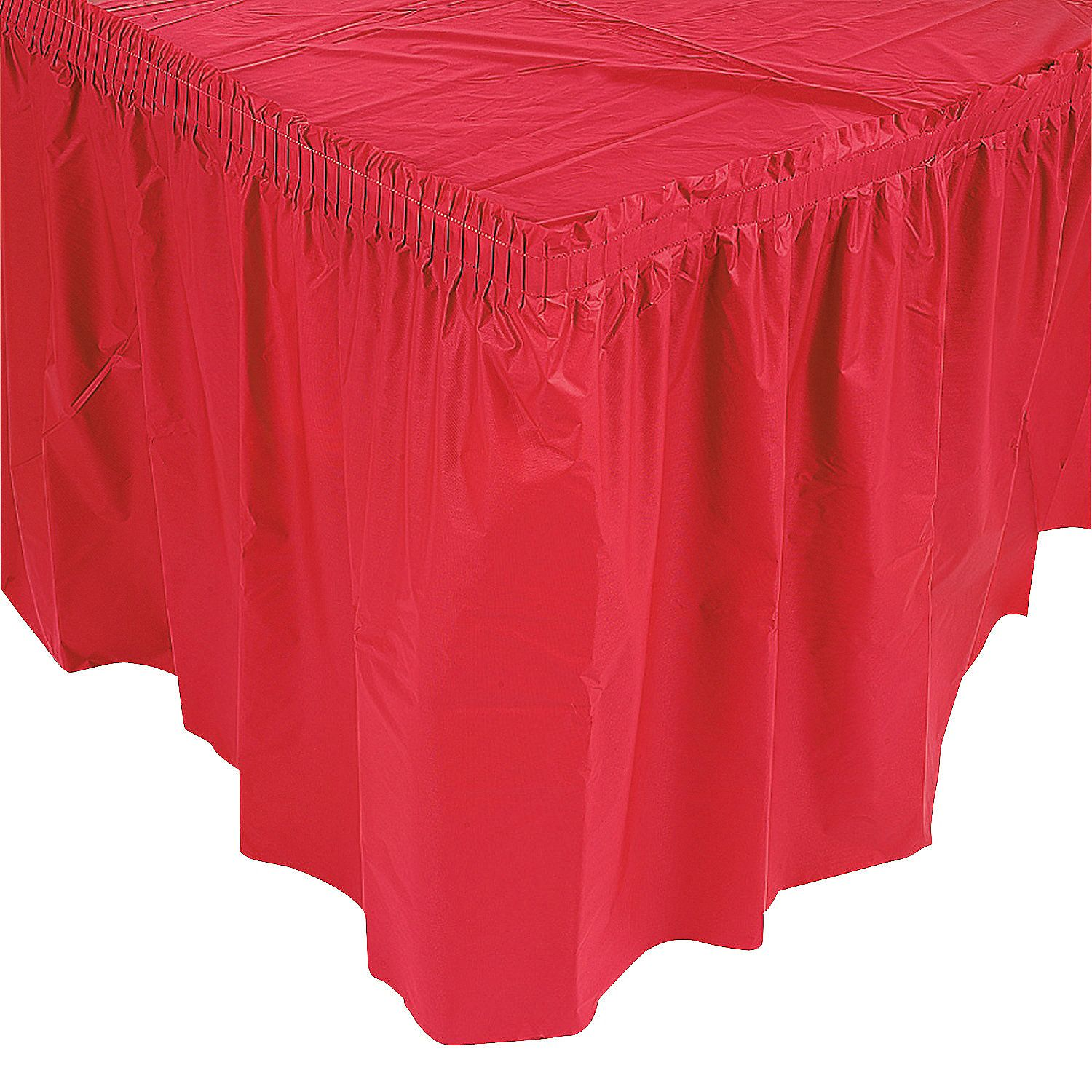 Pleated Table Skirts Ruffled Tablecloth Party
