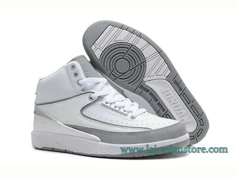Air Jordan 2 Retro RIP CITY- Chaussure Pour Homme Blanc Gris 385475-101