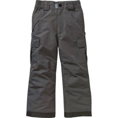 Iceburg Boys Performance Cargo Snowboard Pants, Size: 4/5, Black