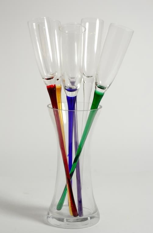 Artland Celebration Collection Lead Free Crystal Vase Colored